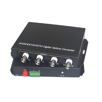 1080P HD CVI AHD TVI 4 Channel Video Fiber Optical Media Converters with RS485 Data- For 1080p 960p 720p CCTV