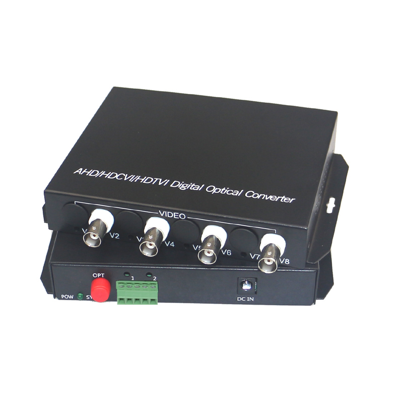 1080P HD CVI AHD TVI 4 Channel Video Fiber Optical Media Converters with RS485 Data- For 1080p 960p 720p AHD CVI TVI HD CCTV ...