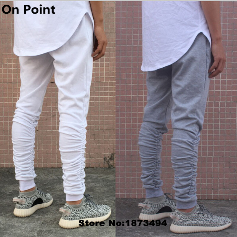 fc5ad1347 USA size cool mens shirring tapered sweatpants slim fit black white and  gray skinny tight leg sweat pants for men 28-40