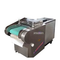 Commercial 1000 type multi function vegetable cutting machine Herbal shredder Electric rice cake slicer canteen cut dried bamboo