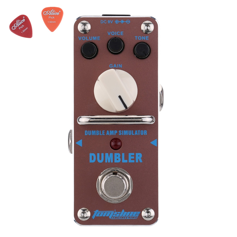 Aroma ADR-3 Dumbler Amp Simulator Guitar Effect Pedal Mini Single Pedals with True Bypass Aluminium Alloy Guitar Accessories aov 3 ocean verb digital reverb electric guitar effect pedal aroma mini digital pedals with true bypass guitar parts