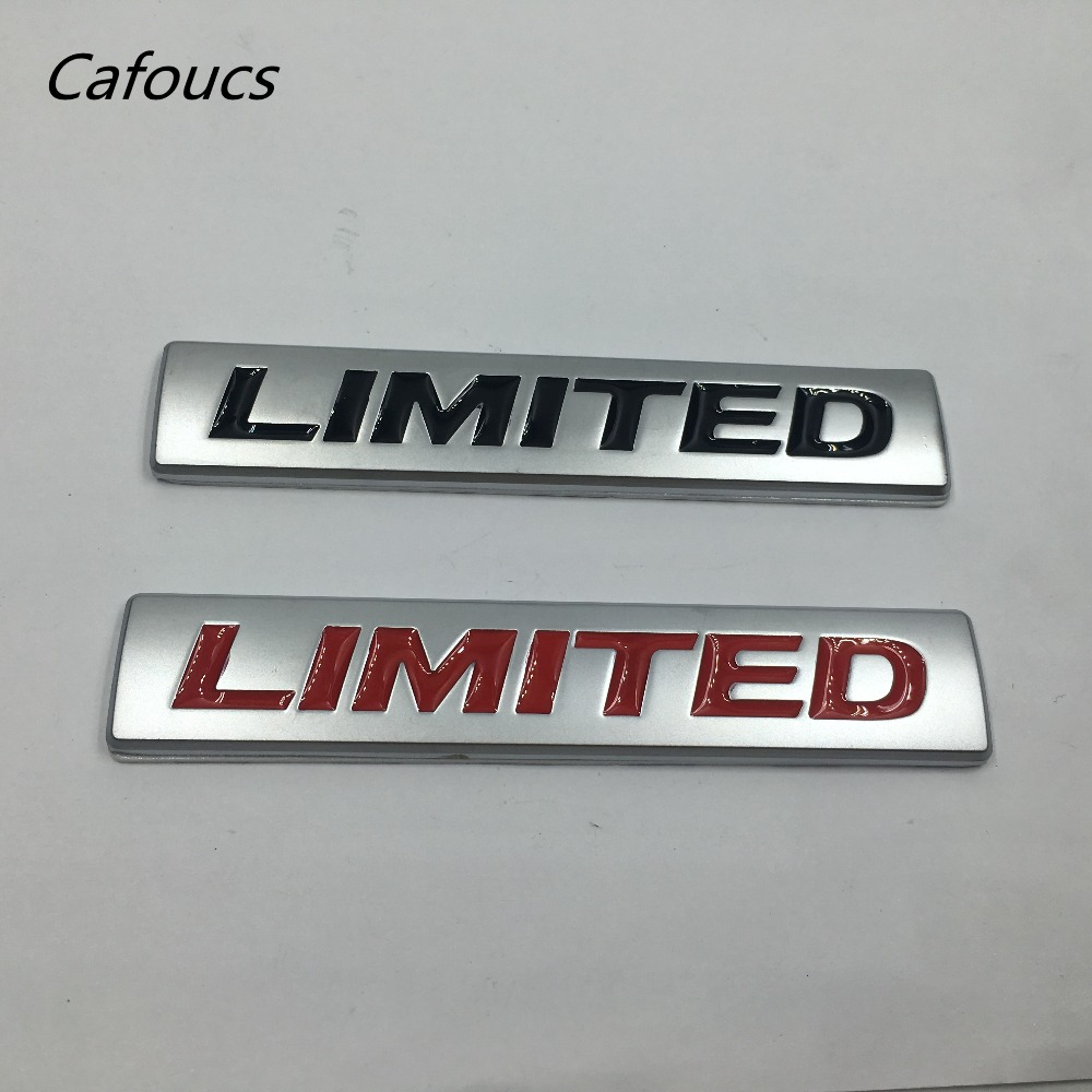 Lot de 10 autocollants de plaque signalétique d'aile de hayon latéral en métal 3D pour Vw Audi Jeep Toyota Volvo 106*20mm