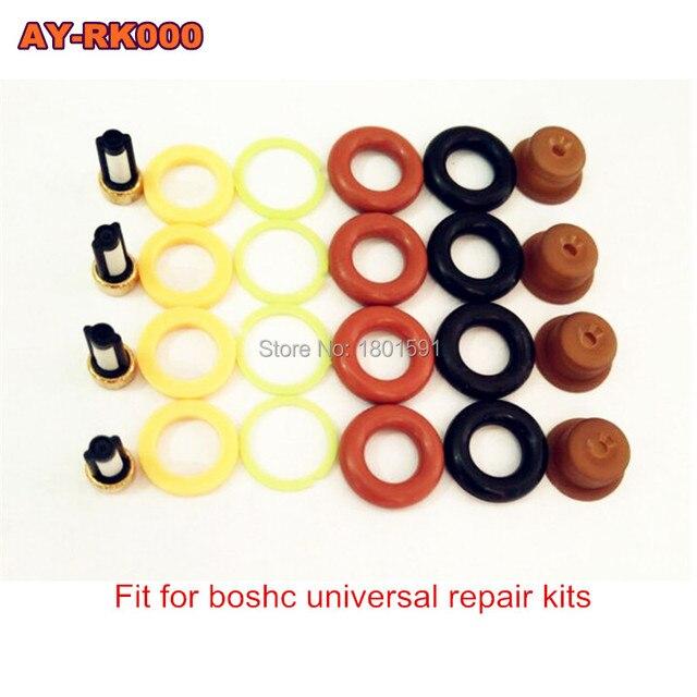 4 peças/set reparação injetor de Combustível kit/peças para bosch injector universal incluindo micro filtro oring junta de plástico pintle cap
