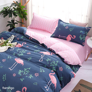 Image 5 - Bedding Sets Geometric Pattern Bed Sheet Children Student Dormitory Bed Linings Cartoon  3/4pcs Pillowcases Cover Set