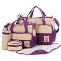 Новый Высококачественный 5 каждый/комплект сумки Прочный Мешок Мумия Пеленки Подгузник Сумка Детские Сумки для Мамы 8 Цвет