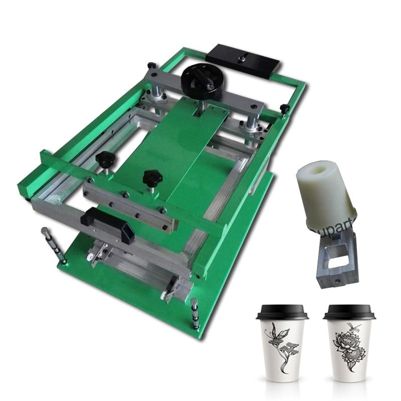 Paper Cup Silk Screen Printing Machine, Screen Printing Machine For Paper Cups With 8 OZ Paper Cups