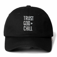 High Quality Brand TRUST GOD + CHILL Snapback Cap Cotton Baseball Cap