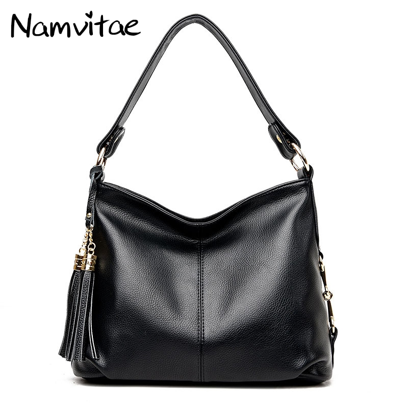 Namvitae Women Genuine Leather Handbags Luxury Designer Shoulder Bag Tassel Messenger Bag sac a main Large Ladies Tote Handbag dr512 dr 512 dr 512 drum cartridge for konica minolta bizhub c364 c284 c224 c454 c554 image unit with chip and opc