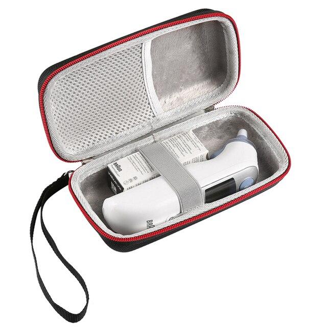 التخزين المحمولة السفر حقيبة الحقيبة حالة ل Braun Thermoscan 7 IRT6520 الرقمية مقياس حرارة عن طريق الأذن الصلب تحمل حالة غطاء حقيبة يد