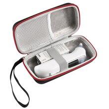 ポータブル収納トラベルバッグポーチケースブラウン Thermoscan 7 IRT6520 デジタル耳式体温計ハードケースカバーハンドバッグ