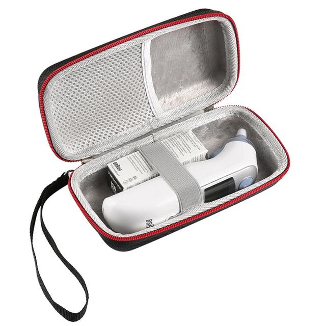 Tragbare Lagerung Reisetasche Tasche Fall für Braun Thermo 7 IRT6520 Digitale Ohr Thermometer Hartschalenkoffer Abdeckung Handtasche