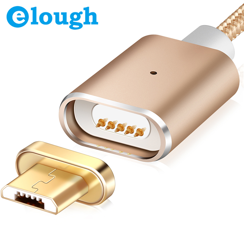 Elough Magnetic Charger Cable For Samsung Xiaomi Huawei HTC Android Mobile Phone Fast Charge Magnet Charger Wire Micro USB Cable