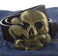 Claw Skull buckle PU leather belt big buckle man belts free shipping fashion great leather belt