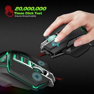 Image 4 - ZERODATE USB wired עכבר ארגונומיה 3200 DPI מתכוונן מכאני עכבר חיפושית Creative 3D משחקי עכברים RGB מגניב תאורה אחורית לילה