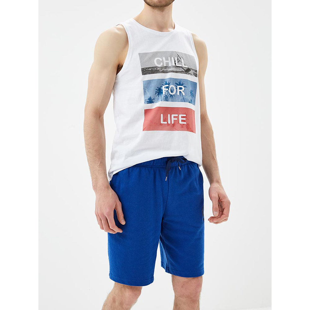 Tank Tops MODIS M181M00280 men t shirt top for male TmallFS sequins graphic racerback tank top