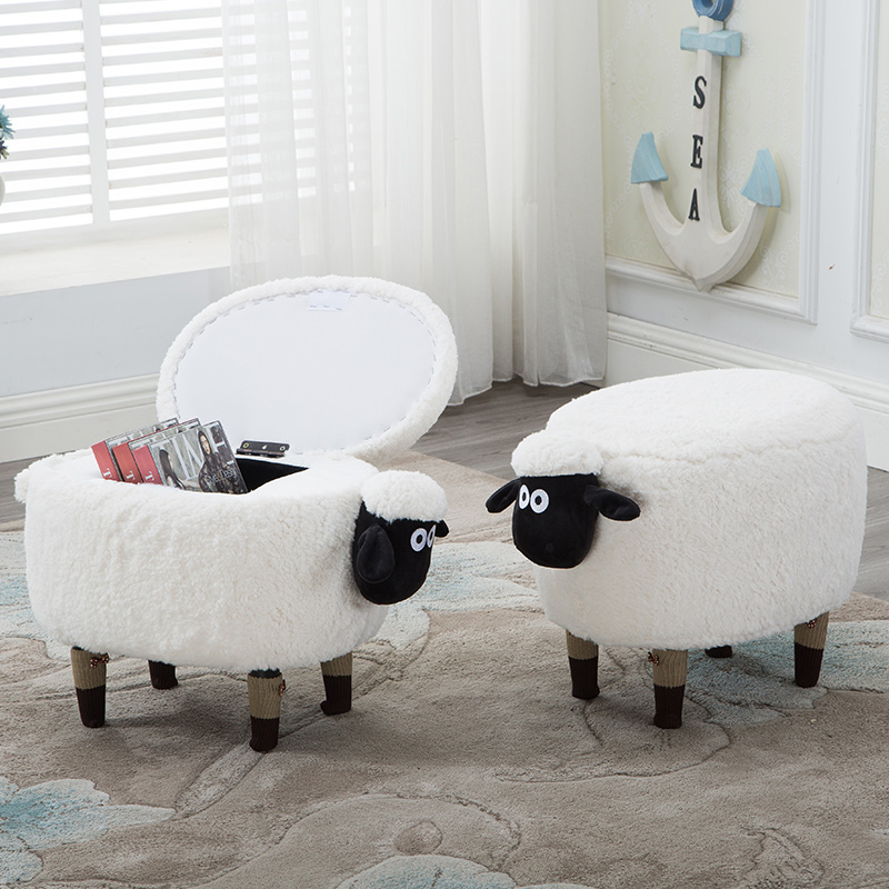 Creative lamb change shoes stool makeup stool dressing stool storage sofa washable footstool цепочка плетения якорное из серебра с позолотой