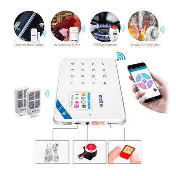 Original KERUI WI8 Pet Immune PIR Detector Smart WIFI GSM Burglar Security Alarm System  IOS/Android APP Control Home 2