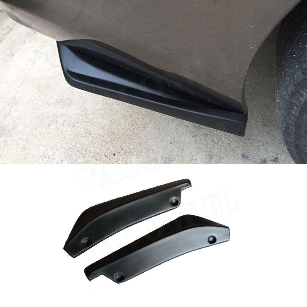 2Pcs Car Accessories Bumper Spoiler Rear Lip Angle Splitter Diffuser Protector G