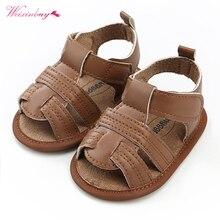 WEIXINBUY/летние сандалии для мальчиков и девочек Bebe вечерние детская обувь для младенцев на день рождения золотые Нескользящие Детские мокасины из искусственной кожи