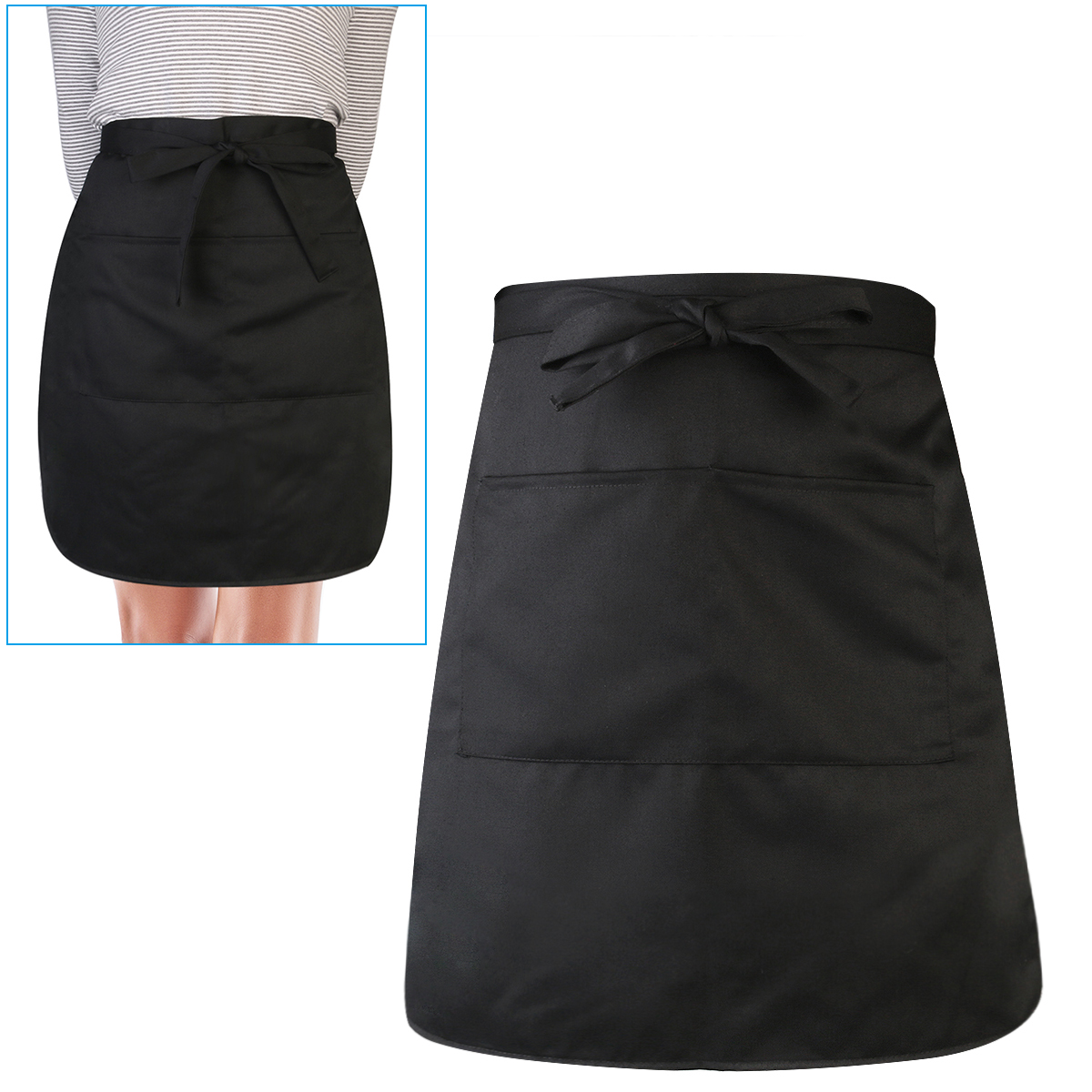 Durable Unisex Short Waist Apron With Pocket For Chef Waiter Waitress Making Things Convenient For Customers Electronic Components & Supplies