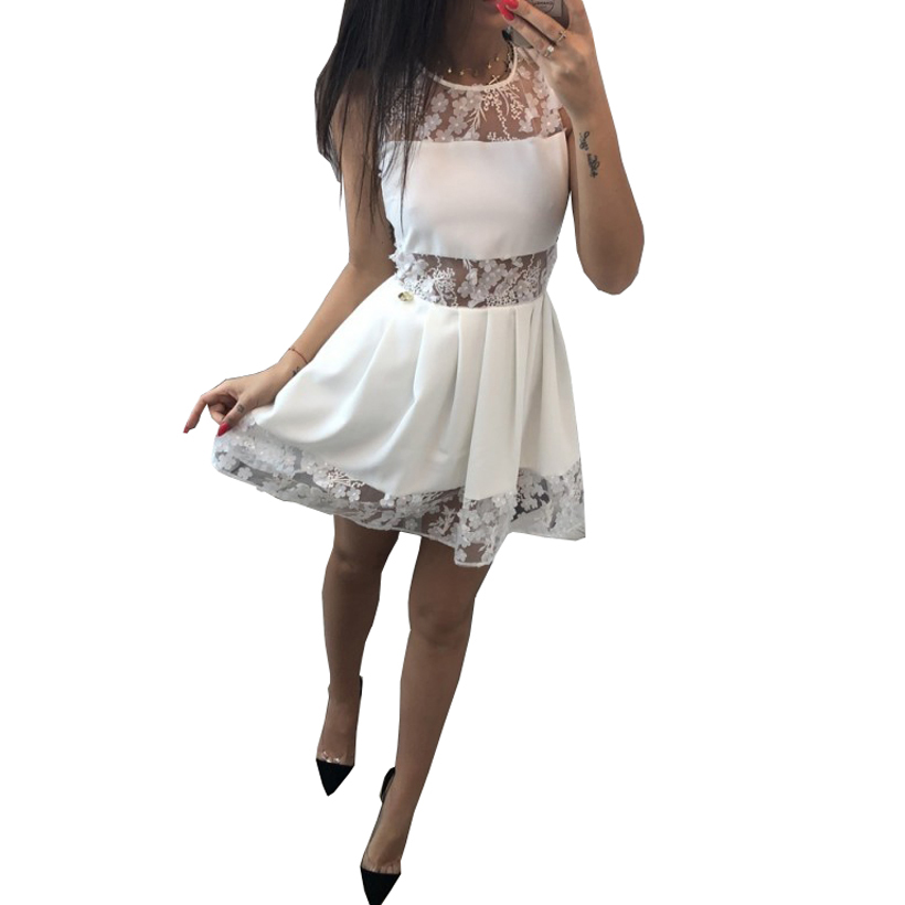 HAMBELELA Women Pleated Dress Cute Sexy Black White Pink ...