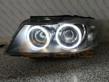 For BMW E90 E91 saloon touring 2005 2006 2007 2008 pre LCI headlight Excellent quality CCFL Angel Eyes halo rings car styling