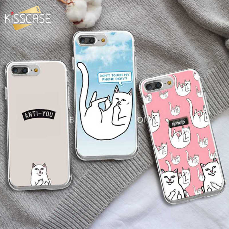 Kisscase Ripndipp Silicone Cat Case For Iphone 5 5s Se Cover Cute Fantastic Soft Cases For Iphone X 7 8 6 6s Plus Capinhas Capa Phone Case Covers Aliexpress