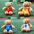 with jerseys teddy bear cute stuffed plush kids toys baby doll best gift for harden james curry fans