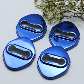 4PCS Stainless Steel Door Lock Buckle Protective Cover Auto Case For mazda 3 mazda3 mazda speed 3 Car Styling image