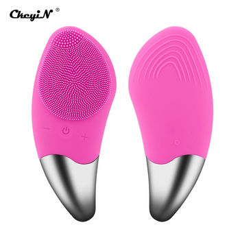 Electric Facial Cleansing Brush Sonic Vibration Deep Cleaning Face Massage Brush Remove Dirt Makeup Blackhead Pore Cleaner 35 3