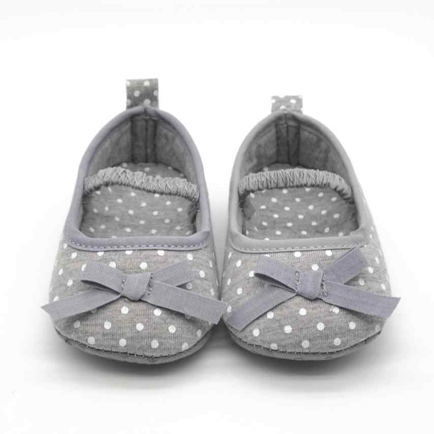 ARLONEET Baby Shoes Girl Boy Soft Cololrful Dot Bowknot Soft Bottom Prewalker Kids  autumn, spring,daily to wear shoes