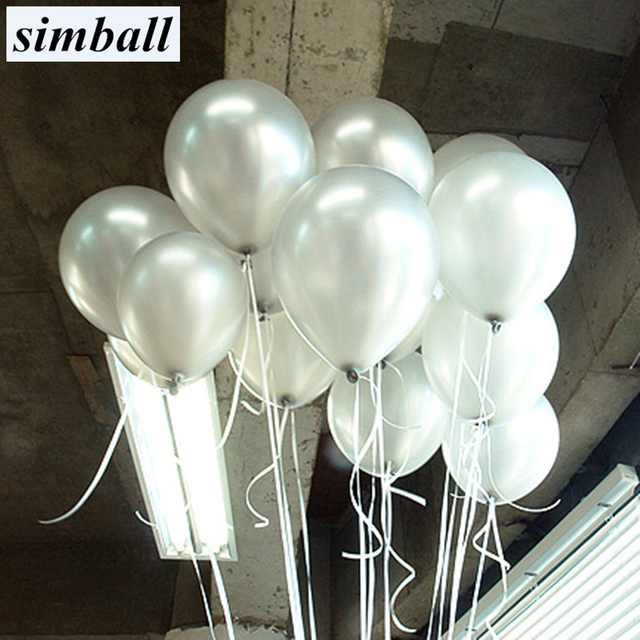 10pcs/lot 10inch Silver Latex Balloons 21 Colors Helium Air Balls Inflatable Wedding Decoration Birthday Party Balloons Supplies