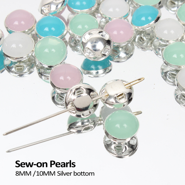Sewing Pearl Beads 8mm 10mm Opal Color Claw Rhinestones Crystal  Scrapbooking For Fabric Clothes Dress 9318df90d43e