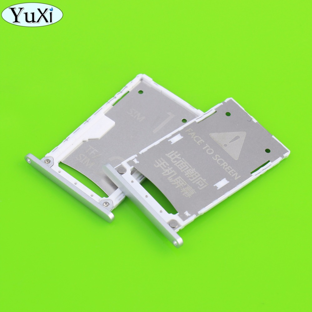 YuXi New Replacement Spare Parts for Xiaomi 4S SIM Card Tray Slot Holder Adapter