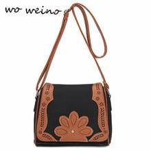 Woweino 2016 Neue Ankunft PU Casual patchwork aushöhlen Frauen Messenger Bags Handtasche frauen Tasche Schultertasche Heißer Verkauf