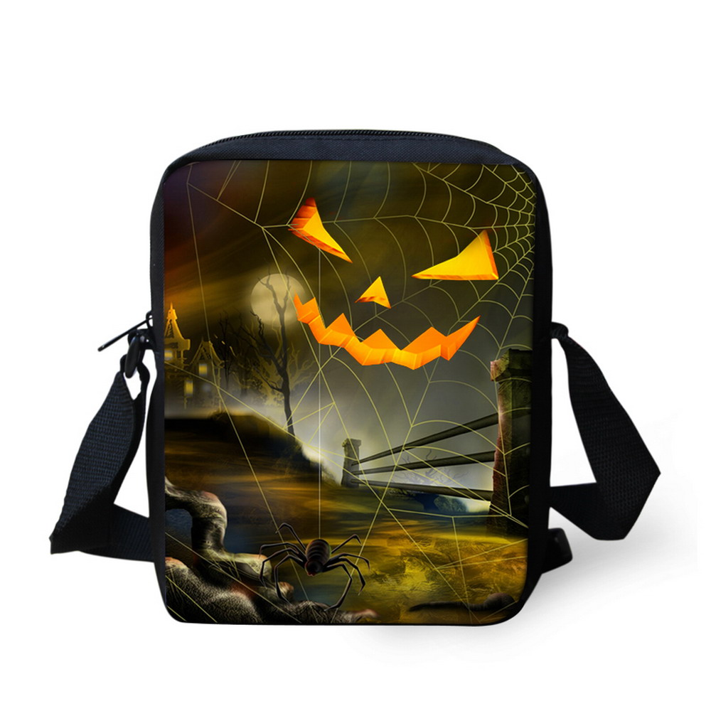 Custom Halloween School Bags for Children Cool Pumpkin Boys Schoolbags Best Gifts Kindergarten Baby Book Bags Kids Casual Bags
