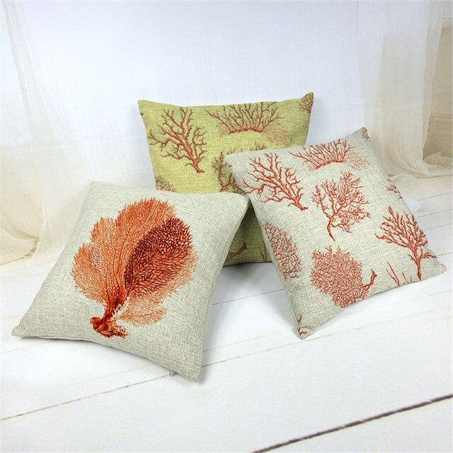 Neueste Kissenbezug Bettwäsche Baumwolle Stoff Korallen Gedruckt