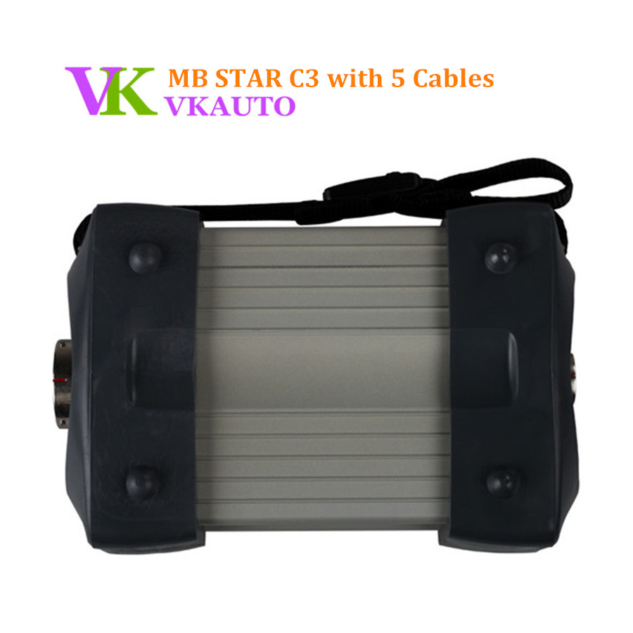Best Quality MB C3 Star Diagnostic for Cars and Trucks with 5 Cables Star C3 Multiplexer Without Software HDD Free Shipping