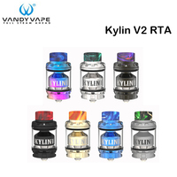 In Stock Original Vandy Vape Kylin V2 RTA 3ml/5ml E Cigarette Vape Tank RTA Atomizer for the VandyVape Box Mod squonk mod