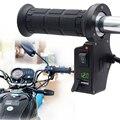 3in1 Guidão Da Motocicleta Quente Elétrico Aquecido Apertos Lidar Com + Tensão + Carregador USB