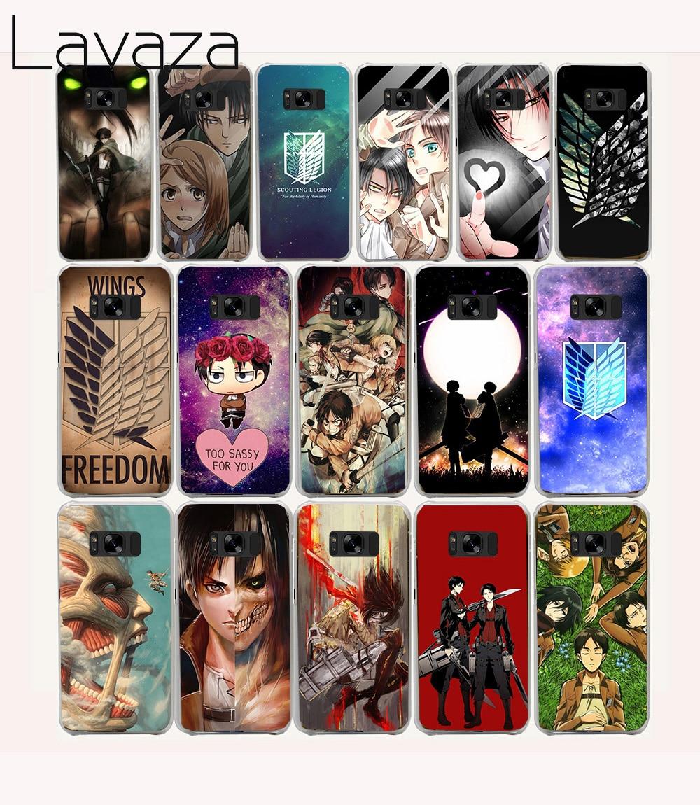 Lavaza 16O Attack On Titan Anime Hard coque Case for Samsung Galaxy S8 Plus S6 edge Plus Note 2 3 4 5