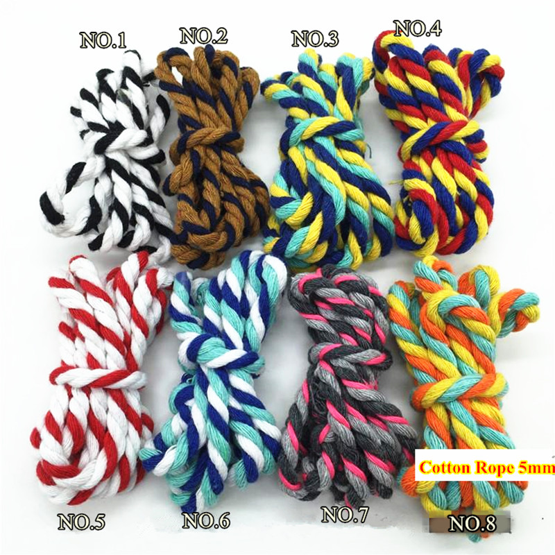 Twisted Rope 100/% Natural Pure Cotton Hammock Cord Dog Sash Bulk Handles DIY