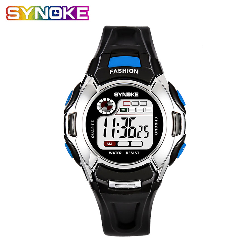 SYNOKE Kid's Watches Multifunctional Waterproof Back Light Sports Digital Watch Student's Outdoor Age Girl Watch Led Top Brand
