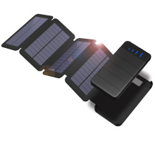 Solar Power Bank 10000mAh Solar Charger Phone External Battery Powerbank for iPhone 5s SE 6 6s