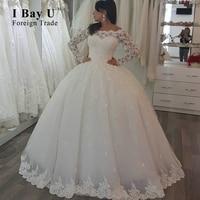 New Model Wedding Dress Satin Coset Top Off The Shoulder Lace Appliques Wedding Dresses 2017 Pearl