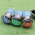 16 MM botão de Metal Botão com 24 v luzes do carro travamento botão interruptor (E1B5) (Opcional)