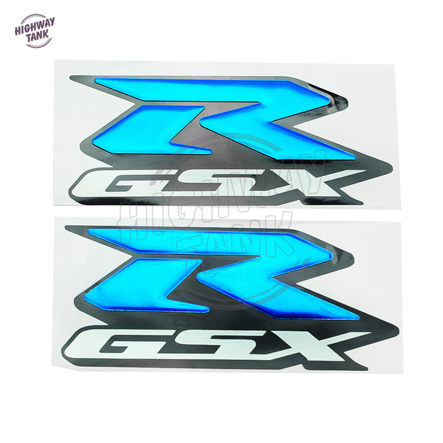Blue motorcycle 3d rgsx stickers moto bike tank decorated decals sticker case for r gsx