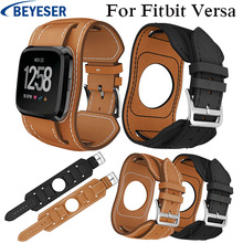 Bands For Fitbit Versa Replacement Watch band Leather Watchband Strap Bracelet watchBelt for fitbit versa Smart Watch wristband watchband for fitbit versa strap genuine leather wrist smart watch band for fitbit versa band bracelet accosseries