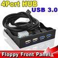 """3.5 """"com 4 Porta USB 3.0/2.0 HUB Painel Frontal Combo Suporte adaptador USB3.0 Bay Interno 20pin Masculino com Baía de Disquete Disco espaço"""