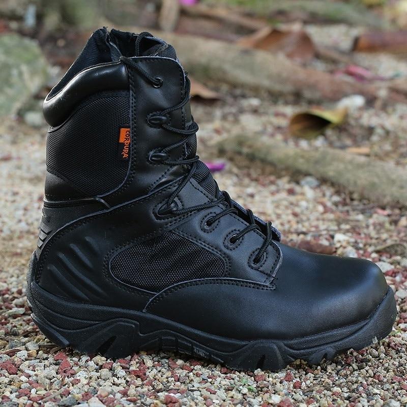2019 nouvelle armée mâle Commando Combat désert hiver extérieur randonnée bottes atterrissage tactique militaire chaussures